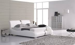 white modern platform bed. Modern Master Bedroom With Amelia Upholstered Platform Bed, Skewa White Floor Lamp Bed A