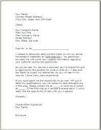 Sample Cover Letter For Job Interview Example Of A Cover Letter For