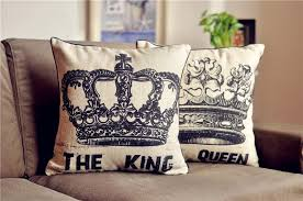 King And Queen Decorative Pillows