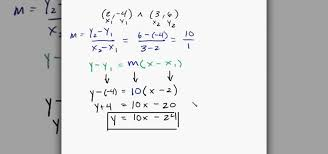 equation of a line given 2 points