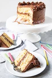 Yellow Cake With Chocolate Frosting House Of Nash Eats