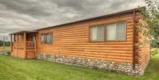 Wood Log Siding for a Mobile Home