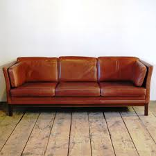 98246 A Mid Century Three Seat Sofa in Full Grain Leather by Mogens Hansen,  Circa 1960 SOLD
