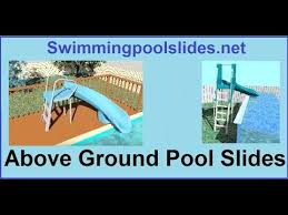 Image Free Standing Ecobellinfo Above Ground Pool Slides Youtube