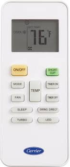 carrier remote control. carrier performance series 40maqb12b3 - indoor unit wireless remote control