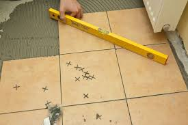 making sure the tile flooring is level