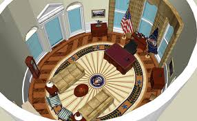 white house oval office. Computer Recreation White House Oval Office