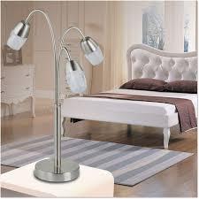 t54113 9w iron acrylic 3 heads led table lamp
