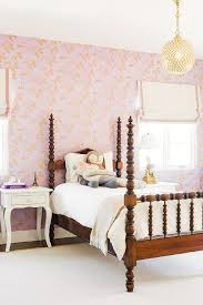 Kids Purple Carousel Wallpaper Transitional Girls Room