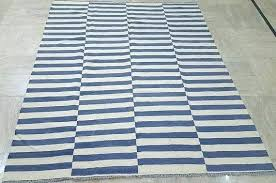 h gray and white striped rug brown
