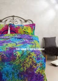 colorful mixed tie dye ombre duvet covers set with two pillow cases