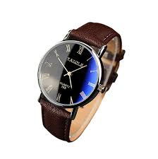 aliexpress com buy brand new brown luxury men watch fashion faux aliexpress com buy brand new brown luxury men watch fashion faux leather mens r numerals quartz analog watch casual male business watches from