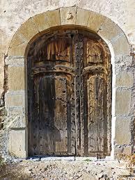 old door portal wood lintel arc architecture