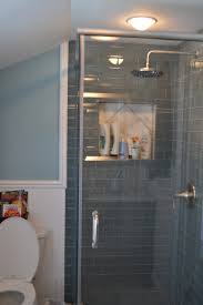 Tile For Bathroom Shower Walls Ice Gray Glass Subway Tile The Depths Shower Walls And Glasses