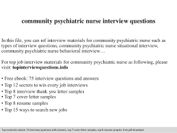 Thank You Notes For Nurses Community Psychiatric Nurse Interview Questions