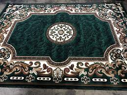7 foot round area rug luxury traditional area rug hunter green persian kingdom design