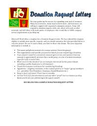 Example Of Donation Letter For School Supplies