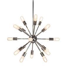 sputnik 18 light polished nickel chandelier