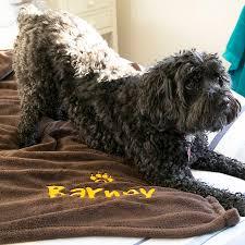 personalised luxury snuggle dog blanket