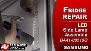 Refrigerator Light Out Samsung Refrigerator Light Not Working Led Side Lamp Assembly