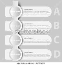 timeline infographics color vertical design template stock vector simple white 3d paper circle tag four topics for website presentation cover poster vector design info