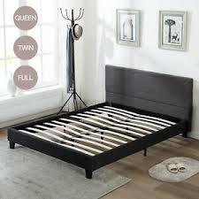 Details about Modern Twin Full Queen Size Platform Bed Frame Upholstered Headboard Slats