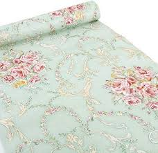 (Green-Rose) - Ya Jin <b>Vintage Flower</b> Shelf Liner Dresser Drawer ...