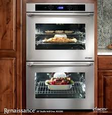 dacor double wall oven renaissance double wall oven in stainless steel with flush handle dacor double wall oven