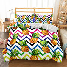 art fruit pineapple bedding sets quilt duvet cover pillowcases twin full queen king all size duvet cover canada 2019 from molahome cad 49 89 dhgate