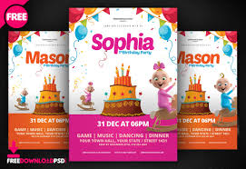 Word Flyer Template Free Birthday Flyer Template Word Free Download Birthday Party Flyer