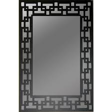 gardner glass s black rectangle framed wall mirror