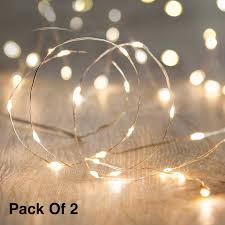 Fairy Lights Price In India Citra Battery Operated Sliver String Light 1m 10 Led Decorative String Fairy Lights Warm White Pack Of 2