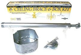 ceiling fans fixture box ceiling fan brace and box kit cathedral ceiling fan box home depot