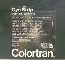 Colortran Lighting Fixtures Colortran Berkey Cyc Strip Stage Studio Light Lamp Fixture