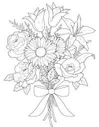 Garden Flowers Coloring Pages Flower Floral To Print Colouring