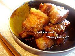 豚 の 角 煮 圧力 鍋