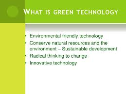 green technology g reen technology g reen innovations together for sustainable future 2