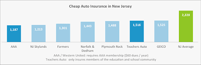 This graph shows what the cheapest auto insurance companies in New Jersey  are: the top