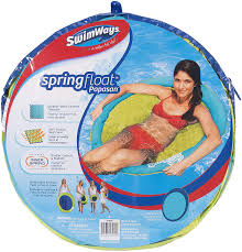 Swimways Spring Float Papasan Pool Chair Light Blue Lime Swimways Spring Float Papasan Mesh Float For Pool Or Lake Light Blue Lime
