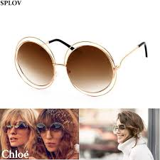 Online Buy Wholesale glasses for round faces from China glasses  2016  Big Round Frame Sunglasses Women Circle Bicyclic Female Face Generic  Fashion