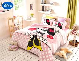mickey and minnie bedding pink mickey mouse flannel bed sheet set queen full comforter cover soft mickey and minnie bedding