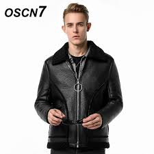 oscn7 black mens faux fur coats handsome fashion 2018 mens leather jackets casual winter jacket men 9613 malaysia