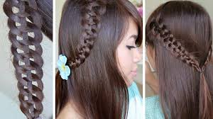 Picture Of New Hair Style 4strand slideup braid hairstyle hair tutorial youtube 4333 by wearticles.com