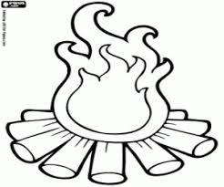 Small Picture Campfire coloring page printable game