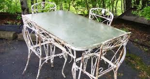 Marvelous Antique White Wrought Iron Patio Furniture F19X On Modern