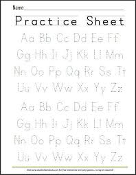 alphabet practice paper free printable handwriting abc worksheet free printables
