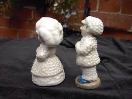 Rare Wade Pearly Queen & King Whimsie Figurines | #464096098
