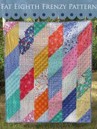 25 Fast and Free Quilt Patterns - & Fat Eighth Frenzy Pattern by Grandma Jane for The Cottage Mama.  www.thecottagemama. Adamdwight.com