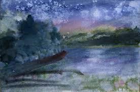 watercolor painting demonstration on masa paper dayintonightweb