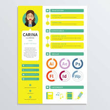 Resume Of A Graphic Designer Graphic Designer Resume Template Download Free Vector Art Stock